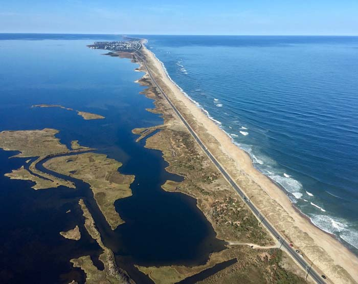 Outer banks in North Carolina